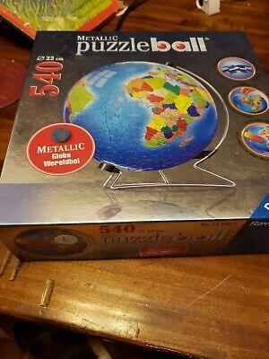 $14.99 • Buy  Ravensburger Metallic Earth 540 Piece Puzzle Ball With Stand Globe 3D Jigsaw