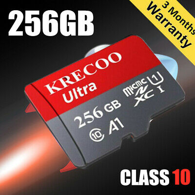 $7.99 • Buy Micro Memory Card 128GB 256GB 100MB/S Class10 4K Fast Flash TF Card With Adapter