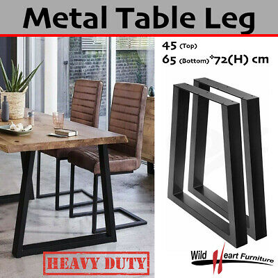 AU89.95 • Buy 2x Steel Table Legs Coffee Dining Industrial Vintage Bench Metal Trapezoid Shape