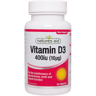 Natures Aid Vitamin D3 400iu (10µg) - Choice Of 90 Or 120 Tablets • 7.65£