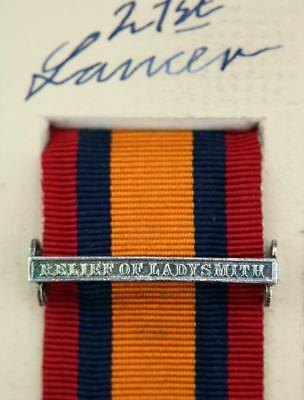 AU15.14 • Buy Qsa Queens South Africa Medal Ribbon Bar Clasp Relief Of Ladysmith Boer War