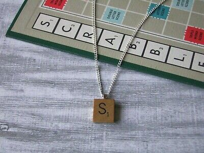 £8.50 • Buy Wooden Scrabble Necklace With Choice Of Letters Made By English Gems Gift Boxed