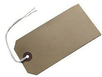 £6.99 • Buy Brown Strung Tie On Tags Labels Retail Luggage Tags With String