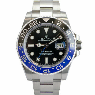 $ CDN19557.01 • Buy Rolex GMT-Master II 116710BLNR  Batman  Black And Blue Bezel Black Dial Watch