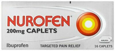 Nurofen 200mg Caplets | Pain Relief | Anti-Inflammatory | Pack Of 12 Or 16 • 4.30£
