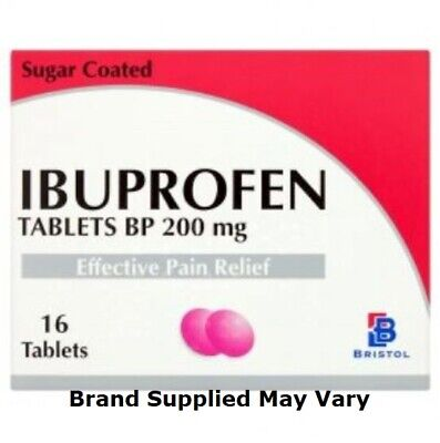 Ibuprofen 200mg Tablets Pain Relief Tablets | Pack Of 16 | MAX 2 Packs/Order • 2.25£