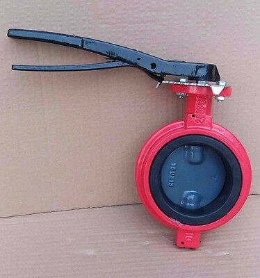 $99 • Buy 6  Inch Butterfly Valve Wafer Ductile Iron Body Nylon Disc Buna-N Seat 416 Stem