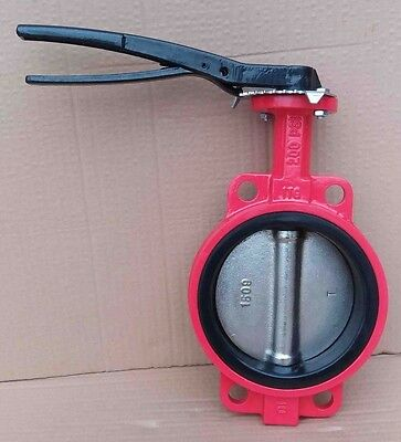 $59.90 • Buy 6  Inch Butterfly Valve Wafer Type 200PSI Ductile Iron Body DI Disc Buna-N Seat