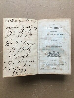 The Holy Bible - Old & New Testaments | G.E Eyre & W. Spottiswoode 1850 • 35£