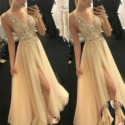 £14.98 • Buy Formal Bridesmaid Women Dresses Wedding Party Ball Prom Gown Long Cocktail Dress
