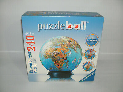 $8.99 • Buy 2005 Ravensburger 240 Piece Puzzle Ball World Globe COMPLETE