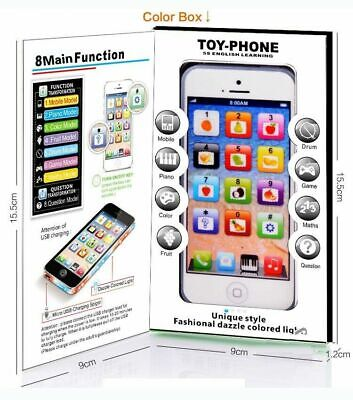 £6.60 • Buy Toy Phone Smart Baby Children Kids Educational Learn Iphone USB Mobile Xmas Gift