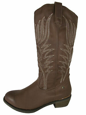 $24.99 • Buy $150 MTNG Mustang Womens 56143 Mid Calf Cowgirl Boot Shoes, Taupe, 39 EU / 8 US