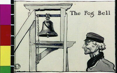 The Fog Bell,1906,Edward Penfield,Man Wearing Hat,The Magenta Village 4998 • 9£