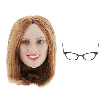 $34.06 • Buy 1:6 Scale Head Sculpt W/ Glasses Frame For 12inch Figure Enterbay