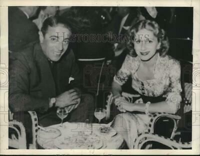 $ CDN28.23 • Buy 1954 Press Photo Greece Top Shipping Magnate Onassis And Wife Athina Livanos
