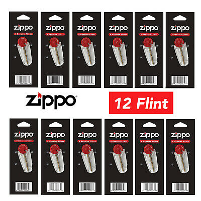 $7.99 • Buy New Zippo Replacement 12 Flint Value Packs For All Zippo Lighter