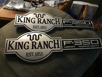 $69.99 • Buy New 2003 2004 2005 2006 Ford F350 King Ranch Lariat Front Fender Emblems Pair