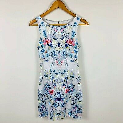 AU29.95 • Buy Forever New Womens Dress Size 6 Floral Cocktail Dress Gorgeous Design Stretchy
