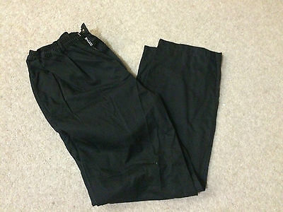 £3.50 • Buy Very Good Condition Ex-rental Black Chefs Trouser, Select Size, Xs-4xl