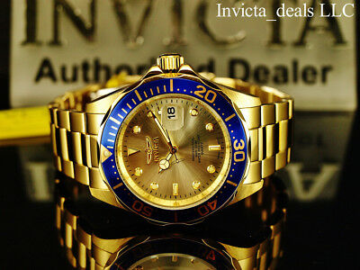 $59.99 • Buy Invicta Men's 40mm Pro Diver SUBMARINER Champagne Dial Gold Tone SS 200m Watch
