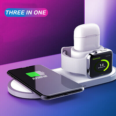 $ CDN26.99 • Buy Qi 3in1 Phone Charging Dock Stand Charger Station For Apple Watch IPhone Airpods