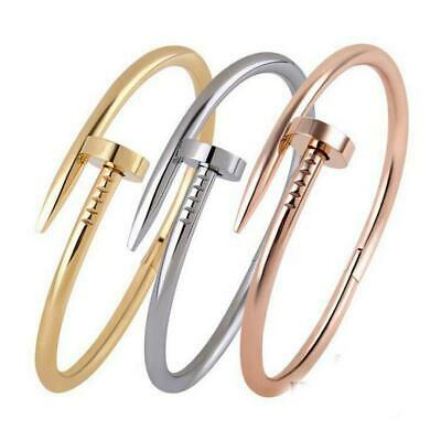 $14.99 • Buy Stainless Steel Nail Love Bracelet Fashion Bangle For Men And Women +++