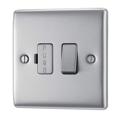 £20.23 • Buy BG Electrical Switched Fused Connection Unit, Brushed Steel, 13 Amp