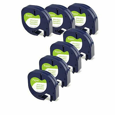 AU17.28 • Buy 7PK LT 91330 Dymo Letratag Refills Compatible With Dymo Label Maker Tape 12mm