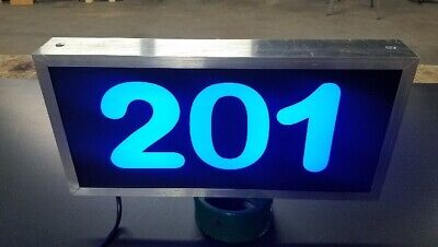 Illuminated LED Lighted Address Sign Plaque Address Numbers House Numbers Sign • 85.12£