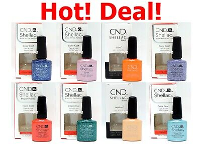 AU14.21 • Buy ON SALE! CND Shellac GelColor 0.25fl.oz UV/LED Nail Polish Choose Color*