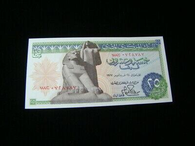 $10 • Buy Egypt 1976-78 25 Piastres Banknote Gem Unc. Pick#47a