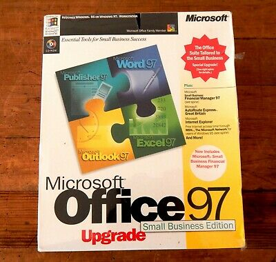 Microsoft Office 97 Small Business Edition Unused Sealed Word Excel Outlook • 26.99£