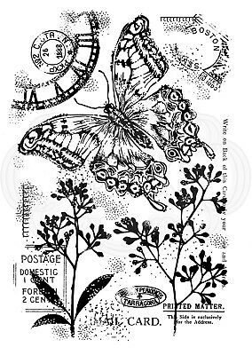 VINTAGE SWALLOWTAIL (BUTTERFLY) - Clear Magic Stamp - Woodware • 5.49£