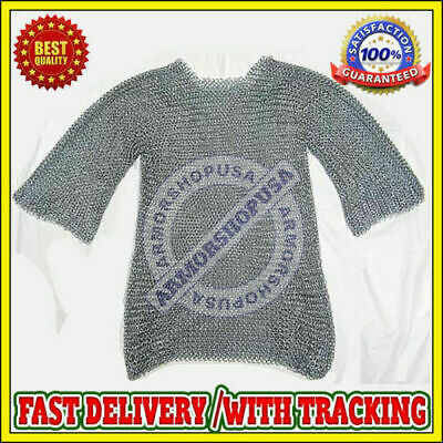 £117.60 • Buy Medieval Aluminium Chainmail Shirt Butted Chain Mail Armor Costume Reenactment