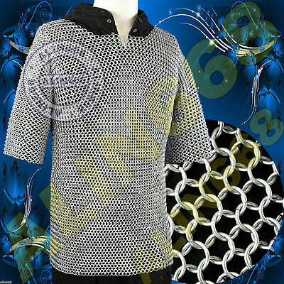 £120.74 • Buy Medieval Aluminium Chainmail Shirt Butted Chain Mail Haubergeon Extra Large Size