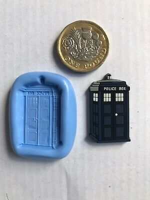 Doctor Who Tardis Silicone Mould Sugarcraft Cupcake Topper Chocolate Sculpey • 3.90£
