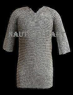 £108.68 • Buy Aluminium Chain Mail Shirt Butted Chainmail Haubergeon Medieval Costume Armour