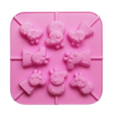Mini Peppa Pig 3D Silicone Lollipop Shaping Mould & Sticks Kit Sweet Chocolate • 9.30£