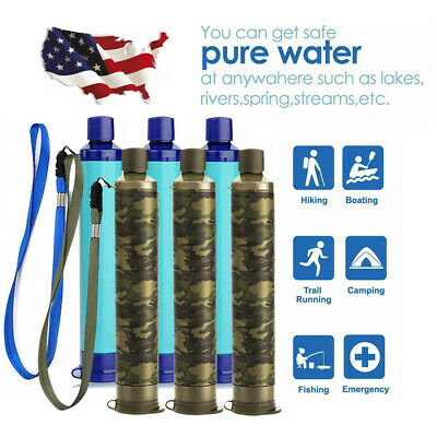 $11.99 • Buy 6 Pack 4-Stage Portable Water Filter Straw Purifier Emergency Survival Tools