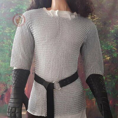 £115.52 • Buy Large Size Medieval Butted Aluminum Chain Mail Shirt Chainmail Haubergeon Dress