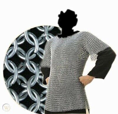 £105.13 • Buy Medieval Aluminum Chainmail Shirt Butted Chain Mail Armor Costume