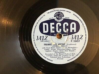 £4.50 • Buy Frankie And Johnny/i'm Down In The Dumps-george Melly 78 Decca Jazz-plays Fine.