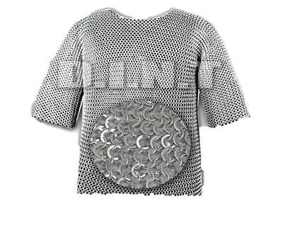 £99.09 • Buy Aluminum Chainmail Shirt Butted Aluminum Chain Mail Haubergeon Medieval Armour