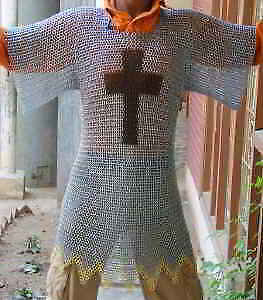 £105.51 • Buy Aluminium Chainmail Shirt Butted Aluminum Chain Mail Haubergeon Medieval Armour