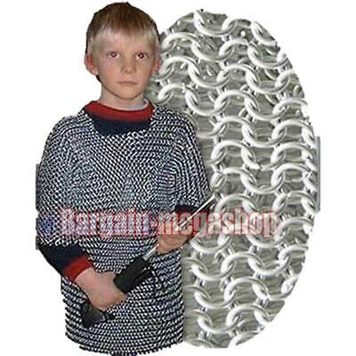£50.63 • Buy Medieval Chainmail Shirt For Child 10-15 Years Age Butted Chainmail 10 Mm