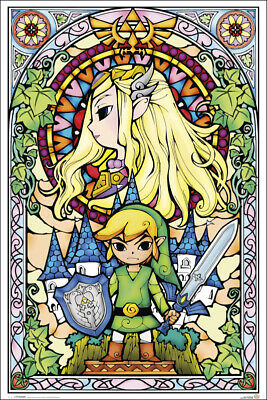 $10.50 • Buy ZELDA - STAINED GLASS STYLE POSTER 24x36 - 51935
