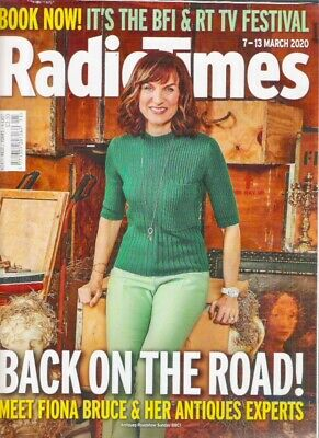 £5.96 • Buy RADIO TIMES FIONA BRUCE ANTIQUES Martin Freeman March 2020 TV Magazine Collector