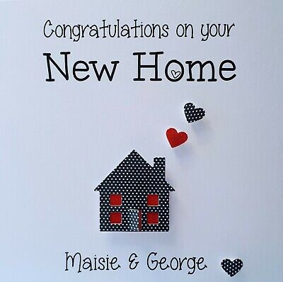 Congratulations On Your New Home / First Home Personalised Handmade Card Die Cut • 3.45£