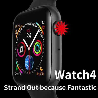 AU19.99 • Buy W34 Smart Watch Wristband Heart Rate ECG Fitness Bracelet For Android IOS Black